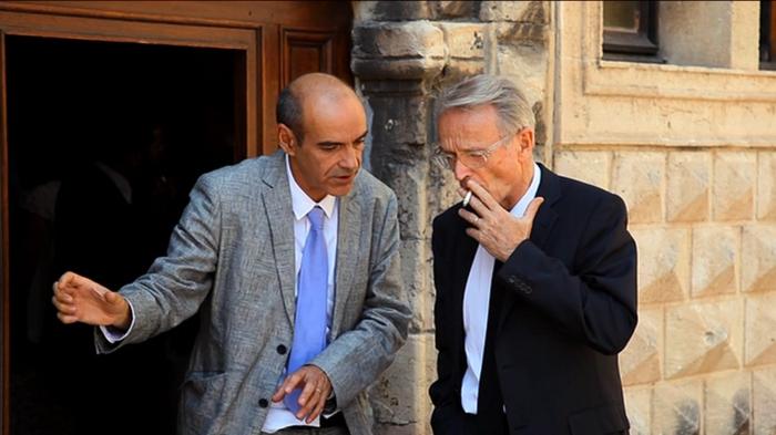 Michel Cerdan et Bernard Latarjet